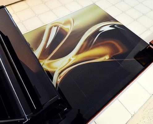 Γυάλινο δάπεδο, ψηφιακή εκτύπωση
