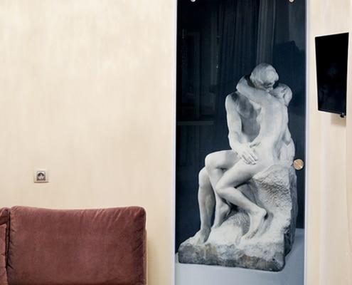 Γυάλινο πόρτα με ψηφιακή εκτύπωση