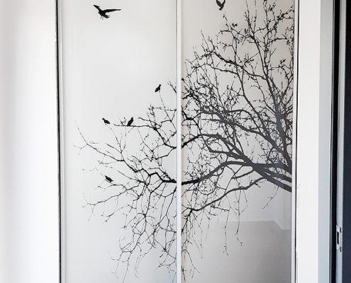 Συρόμενη πόρτα με ψηφιακή εκτύπωση
